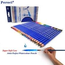 Premium Quality 24 Colored Pencils lapis de cor profissional Watercolor Water Soluble Colour Pencil Set for Fine Art Supply