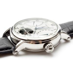Image 5 - Seagull volant de roue rétro, Date 40 heures, réserve de puissance 40 heures, Guilloche exposition, automatique montre pour hommes 819.317