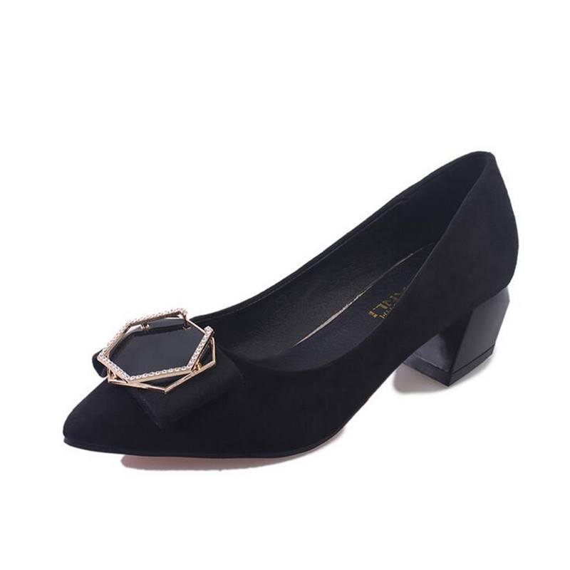 Women 's shoes 2017 spring and summer new high - heeled comfortable work 5cm