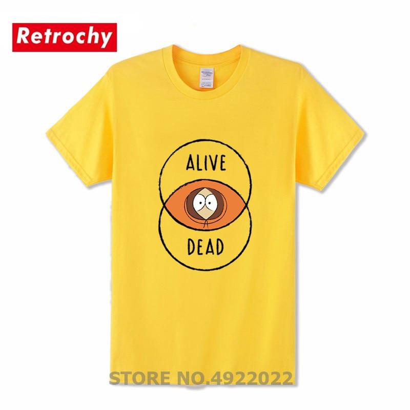 2019 Fashion Creative Design Venn South-park T Shirt Interesting Kawaii Graphic Kenny Tshirt Men's Anime T-shirt Of Venn-diagram