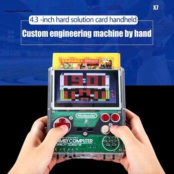 Nouveau pour coolbaby X7 4.3 pouces 8 bits intégration complète de nostalgique bricolage main-dur solution avec gamepad Plug game card