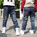 Девушки джинсы сплошной новинка среднего широкий мальчики дети джинсы бросился Tigor 2016 новых детских брюки большой девственный мальчик брюки B136