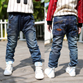 Girls Jeans Solid Novelty Mid Loose Boys Light Kids Jeans Rushed Tigor 2016 New Children's Trousers Big Virgin Boy Pants B136