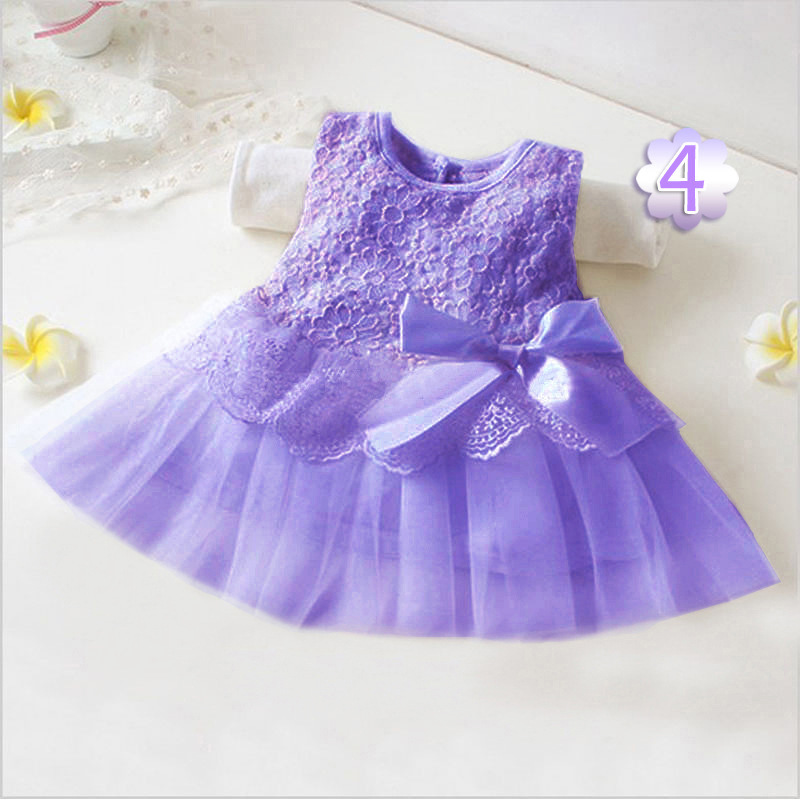 66b93ae653 US $10.88 |2018 New Summer Baby Girls Princess Gauze Sleeveless Bowknot  Dress Multicolor Optional Small Code Dresses Infant Toddler Clothes-in  Dresses ...