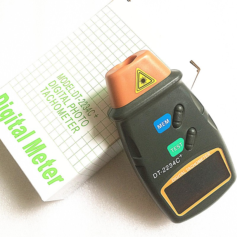 DT-2234C+ digital photo tachometer digital engine tachometer digital speedometer Digital Laser Photo Tachometer Non Contact Tach 1