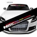 Новинка 130 * 21 см NOS творческий декоративные наклейки автомобиль передний и задний лобовое стекло наклейки персонализированные автомобилей светоотражающие наклейки