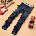 Hot 2016 calças de brim dos homens de Lazer Calças Casual Recém Estilo Homens Outono Inverno grossas calças Jeans de Algodão