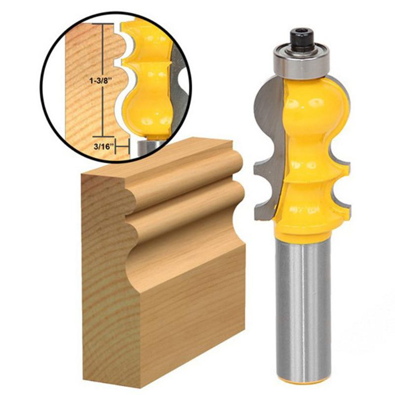 1 pc Wood Milling Cutter 1/2'' Shank Wood Door Cabinet Steel Handle Router Bits Milling Knife For DIY Wood Working Cutter Tools