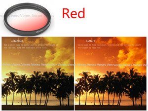 Image 4 - Venes 62mm Gradual Blue or Green or Yellow or Red or orange  Lens Filter Camera Accessory