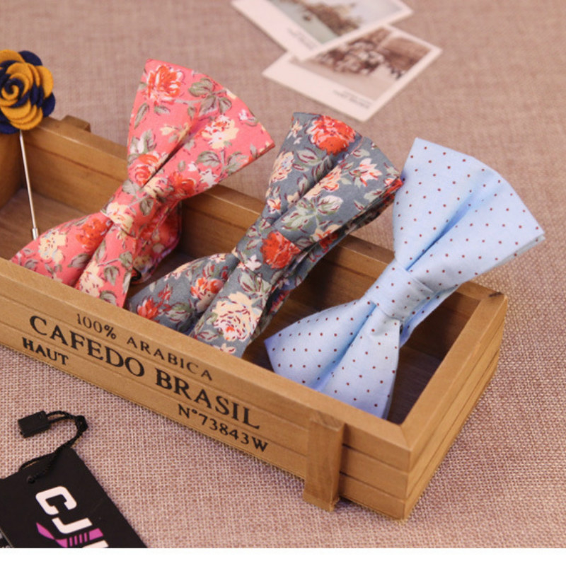 16colors high-end new fashion designers mens women bow tie cotton print floral for business party bowtie butterfly 50pcs/lot