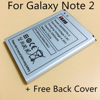 ISIU Original Battery Free Back Cover For Samsung Galaxy Note 2 N7100 Mobile Phone Rechargeable Bateria