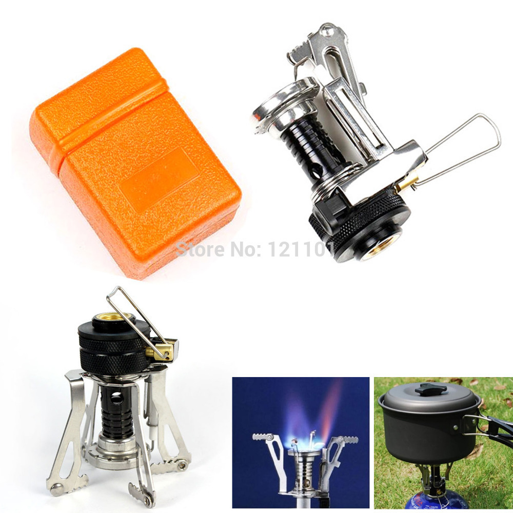 Free Shipping Mini Portable Foldable Hiking Stove Gas