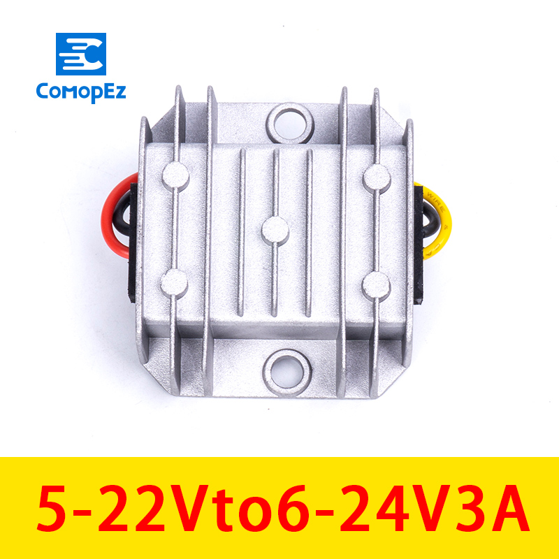 5-22V To 6-24V 3A Step Down DC Buck Converter Module Power Supply Transformer For Car Alarm Radio Electromotor5-22V To 6-24V 3A Step Down DC Buck Converter Module Power Supply Transformer For Car Alarm Radio Electromotor