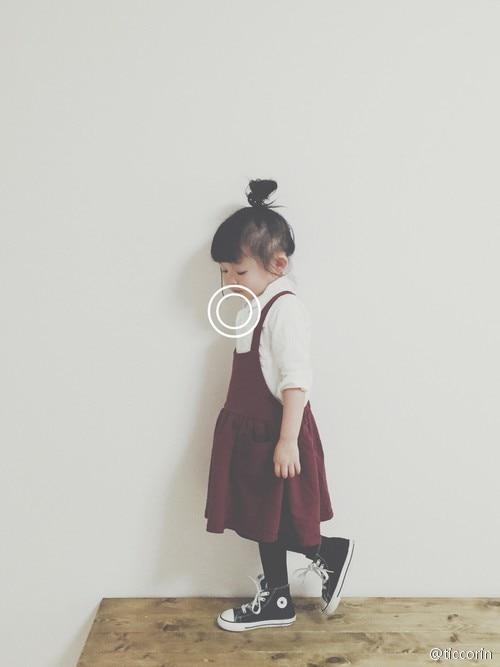 Free shipping 2015 Baby Girl Brushed Burgundy Knitting dress overalls Suspenders Kids Bib dresses winter thick