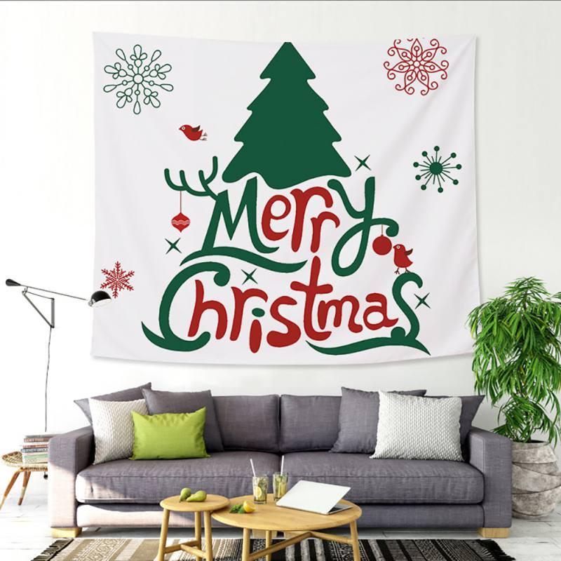 Vrolijk Kerstfeest Tapijt Muur Opknoping Zandstrand Gooien Tapijt Deken Camping Tent Reizen Matras Bohemian Slapen Pad Tapijt