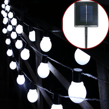 Trecaan  5cm Big ball 2.5M or 5M Solar led String light outdoor Decorative Fairy lighting for Christmas trees,Patio.Party