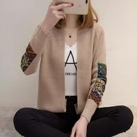 Free Shipping New Fashion Spring Autumn Women Short Knitted Cardigan Coat Female Korean Folk Style Loose