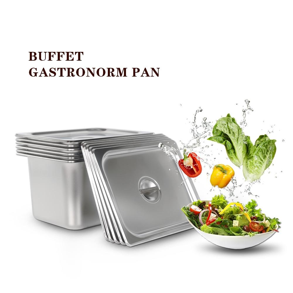 Кухонные принадлежности 6 шт./партия 1/2 GN посуда нержавеющая сталь сковорода для еды 325*176 мм натирание буфет Cozinha домашнего использования
