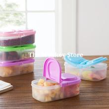 2 Grid Kitchen Storage Boxes Bins Plastic Box Glossy Candy Jars Sealed Food Containers Organizers Cajas Boite De Rangement F1804