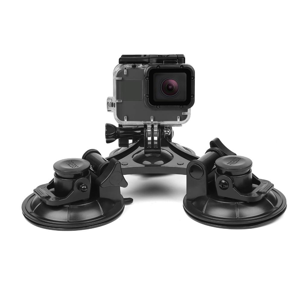 TIRER Grand/Petit Taille Pare-Brise de Voiture Ventouse pour GoPro Hero 6 5 4 Session SJCAM H9 Yi 4 K D'action Caméra Trépied Titulaire montage
