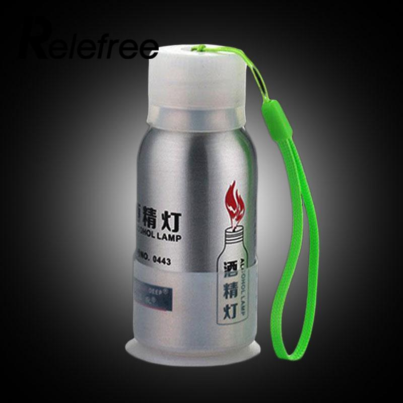 Relefree Portable Durable 50ml Alcohol Lamp Lab Equipment Heating Burner Fire Picnic  Not Include Alcohol