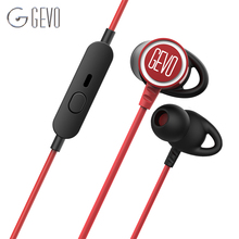 цена на GV3 In-ear Earbuds Wired Noise Cancelling Gaming Headset HIFI Sport Hook Earphones Stereo Bass Headphone with Cable Microphone