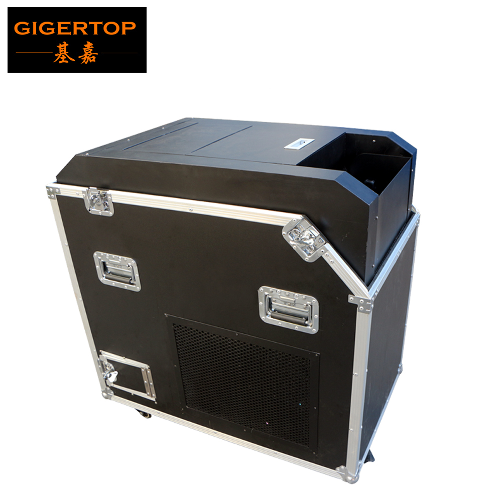 Gigertop Wind Powered Confetti Blower Machine Flightcase with Roller Support Add Paper Continuously Instead of Co2 Confetti