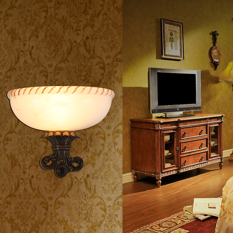 ... Margaret Howe Spain Marble Stairwell Wall Sconce Lamp Hallway Living  Room Villa Authentic Custom 7339 ...