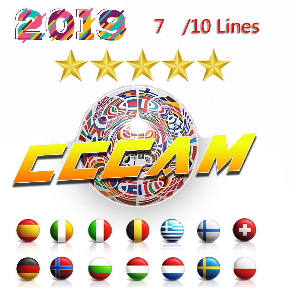 HD 1 Year CCCAM 7 lines Cline Server Account For Satellite receiver Spain UK Germany French Italy POLSAT MOVISTAR ES Spain-in Satellite TV Receiver from Consumer Electronics