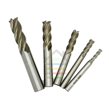 5pc 4 6 8 10 12mm 4 Flutes End Mill HSS CNC Straight Shank Milling Cutter Drill Bits Set