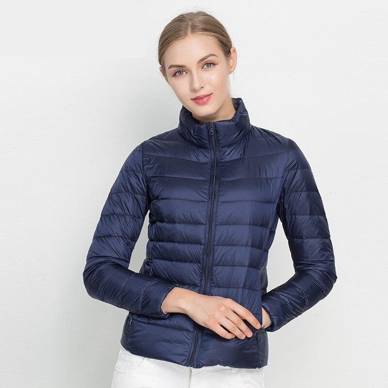 Women Light Down Jacket Hooded Winter Duck Down Jackets