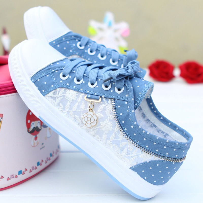 Women Vulcanized Shoes Sneakers Ladies Casual Shoes Breathable Ladies Walking Flat Student Tenis Feminino Sneakers BX30