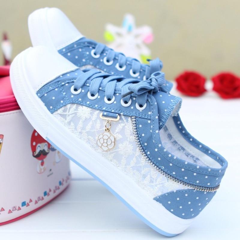 Women Vulcanized Shoes Sneakers Ladies Casual Shoes Breathable Ladies Walking Flat Student Tenis Feminino Sneakers