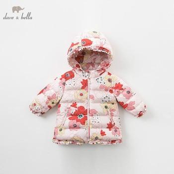 00bdfa89efbf DBA7891 dave bella/пуховик для маленьких девочек Детская верхняя одежда на  90% белом утином ...