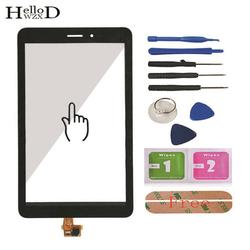 Dla Huawei Mediapad T1 8.0 3G S8-701u/Honor Pad T1 S8-701 ekran dotykowy Digitizer szkło dotykowe Panel przedni czujnik obiektywu klej