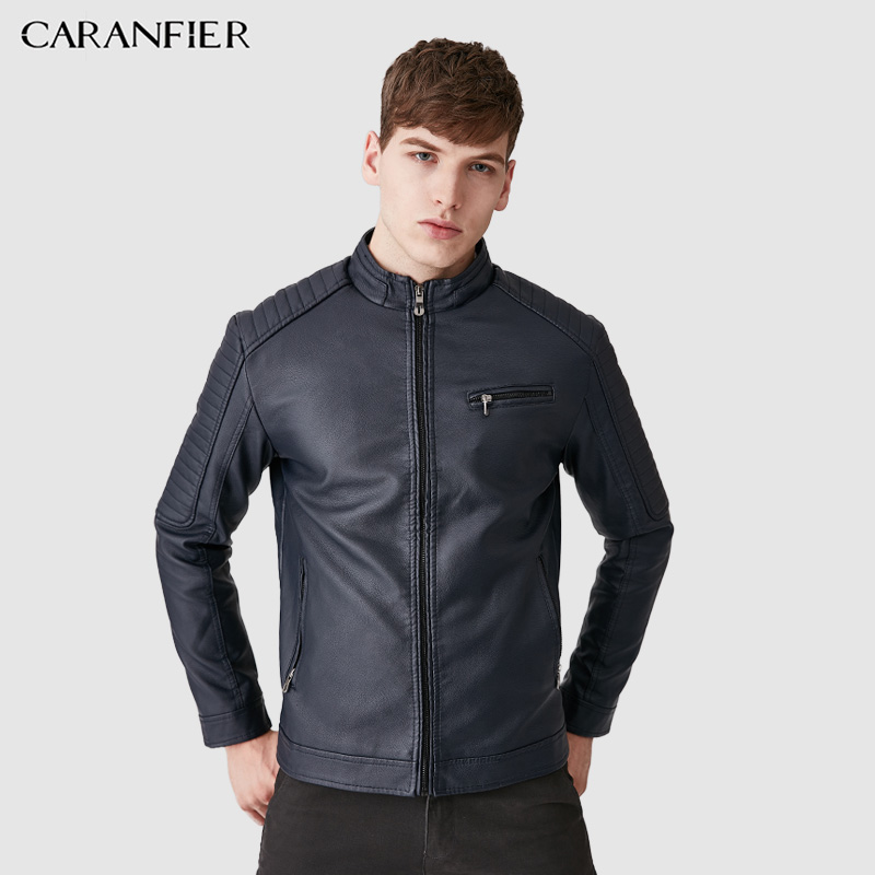 CARANFIER 2017 New Men Leather Jackets High Quality Motorcycles British Businessmen Casual Fashion Military Tactical Jacket