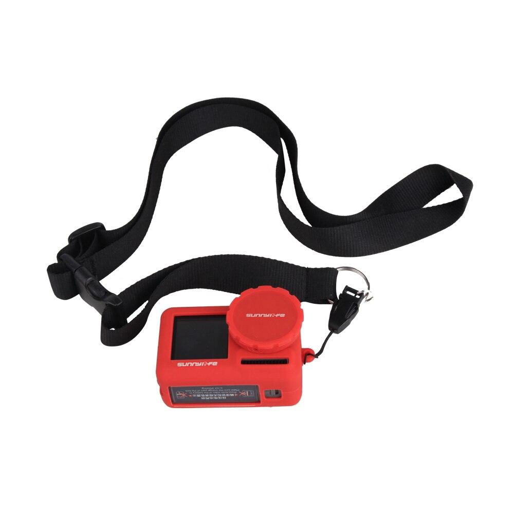 Patch sky 30 ensemble/lot coque en silicone couvercle de lentille sangle sangle lanière pour DJI OSMO ACTION sport action caméra accessoires kit