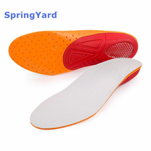 SpringYard EVA Sports Orthopedic Insoles Arch Support Cushion Shoe Pad Shock-Absorption Running Breathable Train For Men Women