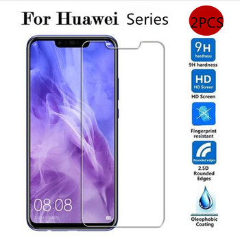 2pcs Tempered Glass For Huawei Mate 20 Lite Pro 20lite 20pro p30 Honor 8x 8c 10 Screen Protector 9h 2.5d Phone Protective Glass image