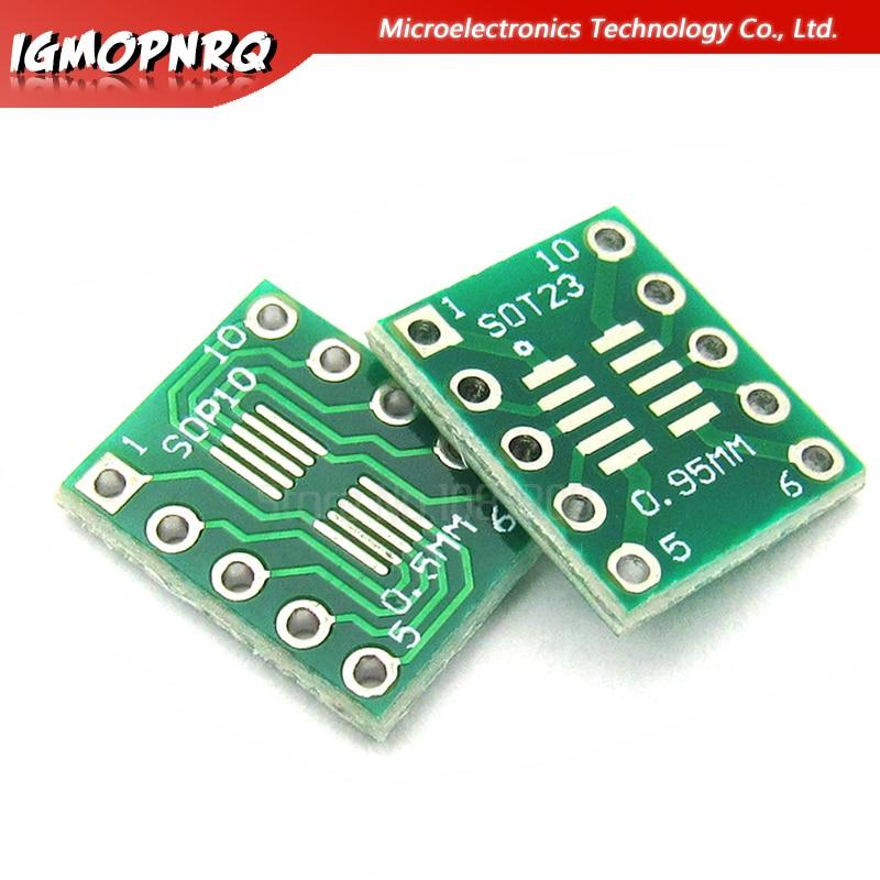 Integrated Circuits kits Almencla 30 Pcs Eletronic SOT23 To DIP Adapter PCB Board DIY Converter Board