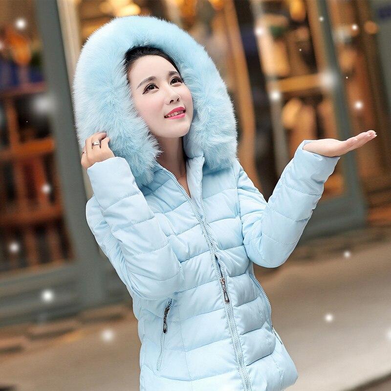L-4XL için 2016 Parka Kadınlar Kış Ceket Artı Boyutu Kukuletalı Yastıklı Pamuk Aşağı Ceketler Coat Katı Renk Palto Casaco Feminino