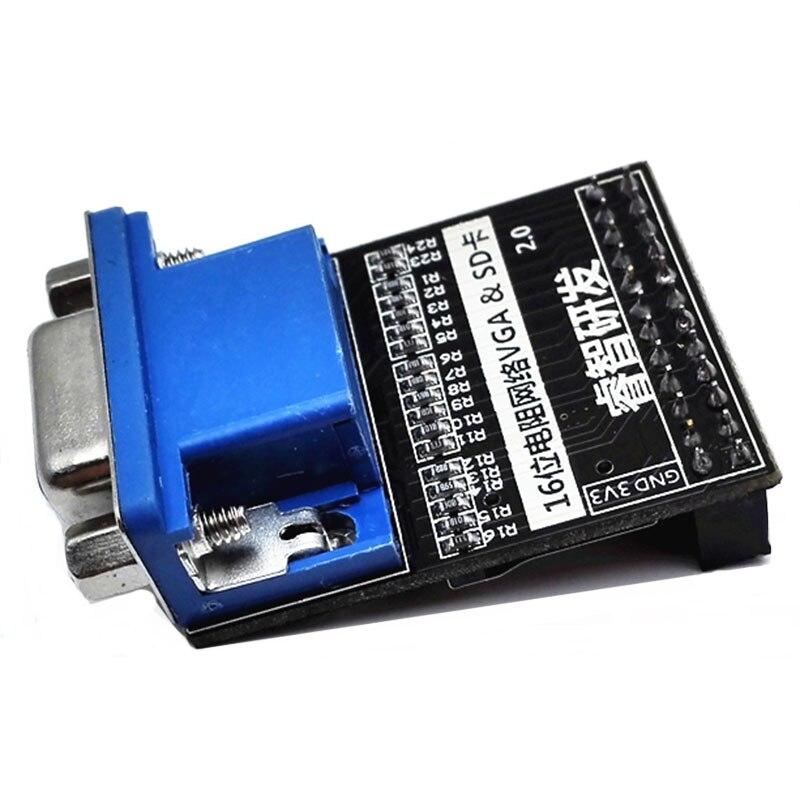 VGA Module 16 Bit 65536 Color SD Card Video Image Acquisition Module For Altera FPGA Core Board Ata011