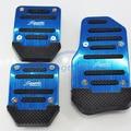Blue Universal Aluminum Car Foot Pedals Non-Slip Brake Clutch Accelerator Pedal