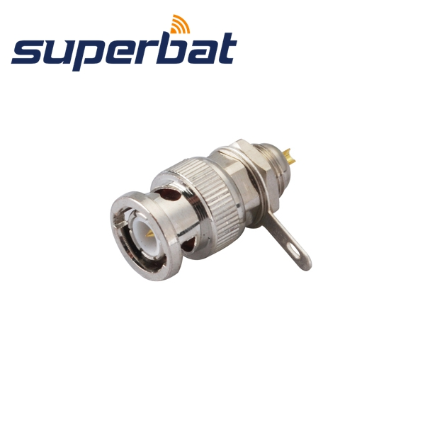 Superbat 10pcs Free Shipping RF BNC Connector Front Mount Plug Male Bulkhead With Solder Cup