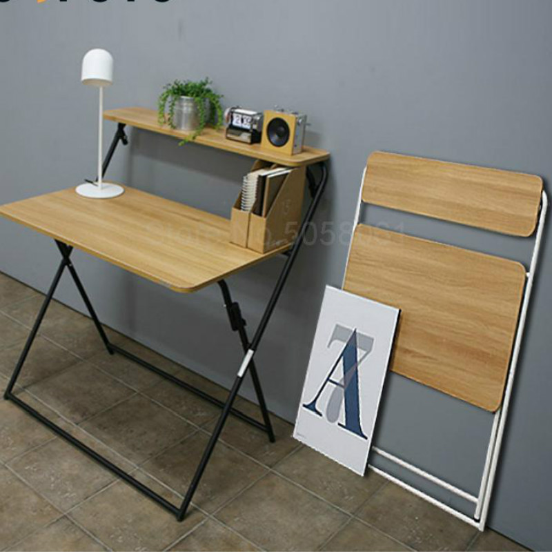 Folding Table Portable Simple Office Desk Home Learning Desk Small Table Folding Computer Table