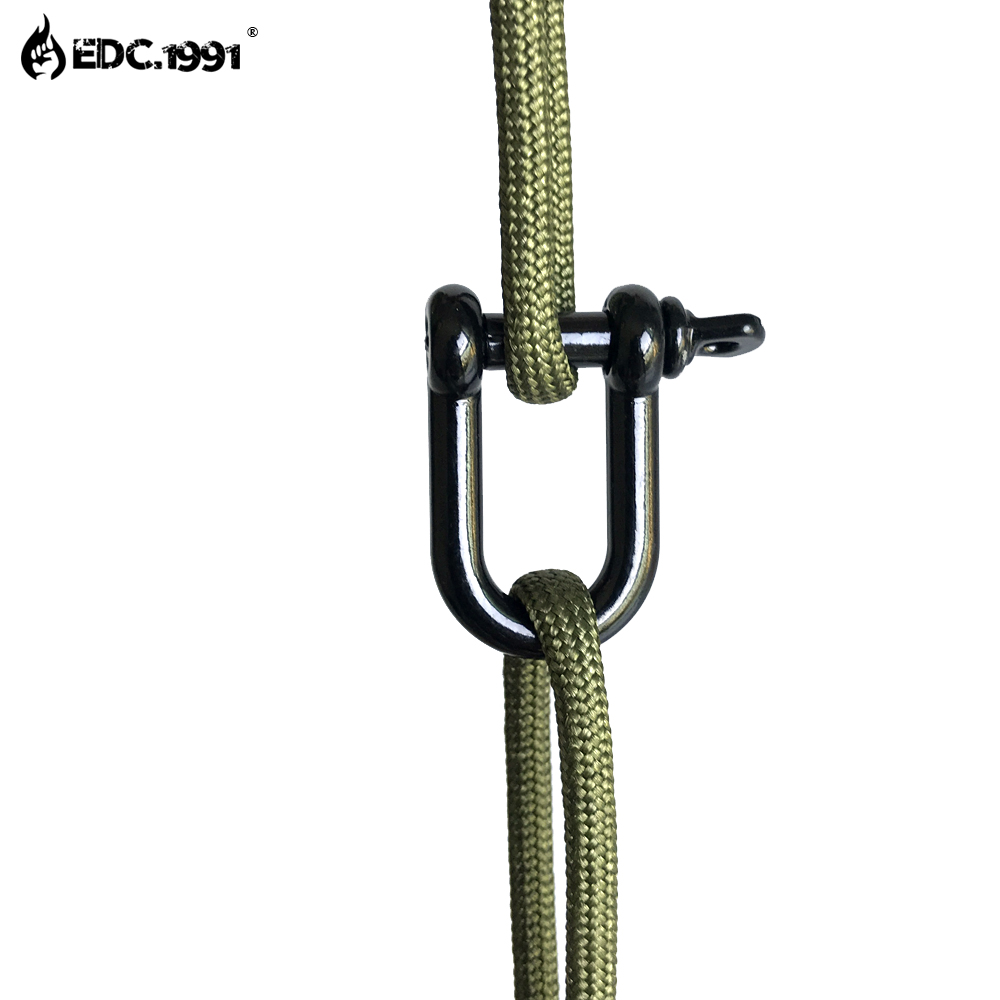 6PCS Stainless Steel U Shape Shackle Adjustable Anchor Outdoor Rope Paracord Bracelet Buckle Outdoor Tool black in Outdoor Tools from Sports Entertainment