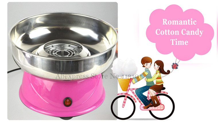 Small Cotton Candy Maker Electric Floss Maker Pink Color 220V Candy Floss Machine