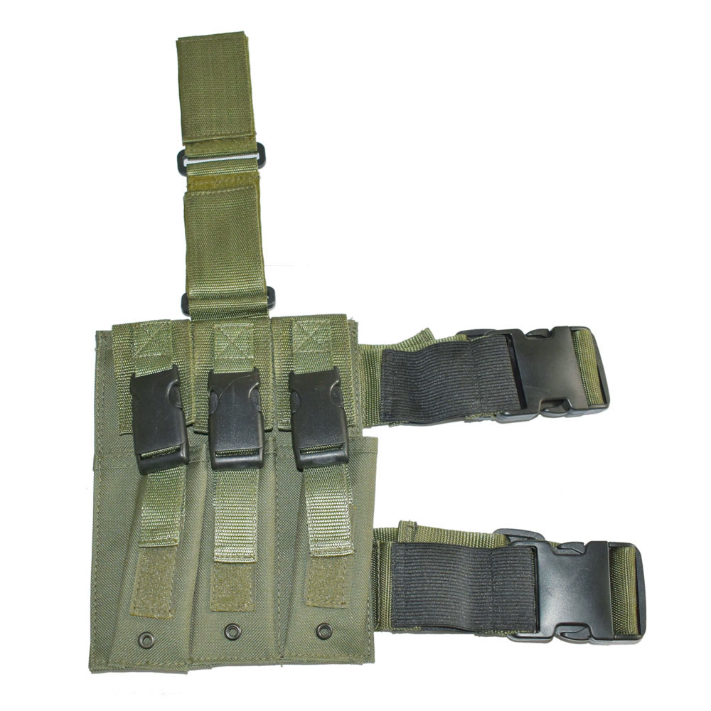 Lights & Lighting Painstaking Tactical Drop-leg Triple Mp5 Magazine Pouch 3 Cell Green-50031 Elegant In Style