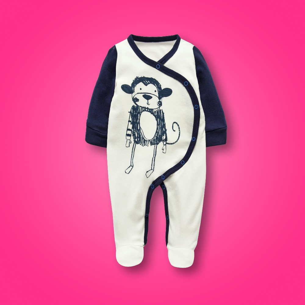 spring summer newborn baby boy clothes baby rompers for girl long sleeve baby pajamas monkey jumpsuit toddler overalls unisex newborn baby boy rompers overalls long sleeve infant jumpsuit clothing cotton monkey girl children pajamas costumes outwear