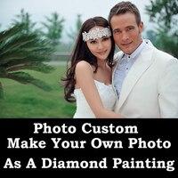 DIY Painting Custom Photo Diamond Painting Cross Stitch Customized Family Pet Couple Kids Elderly Diamond Photo